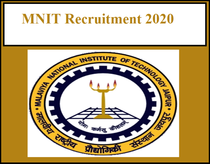 MNIT Recruitment 2020 Out – Walk-in-Interview!!!