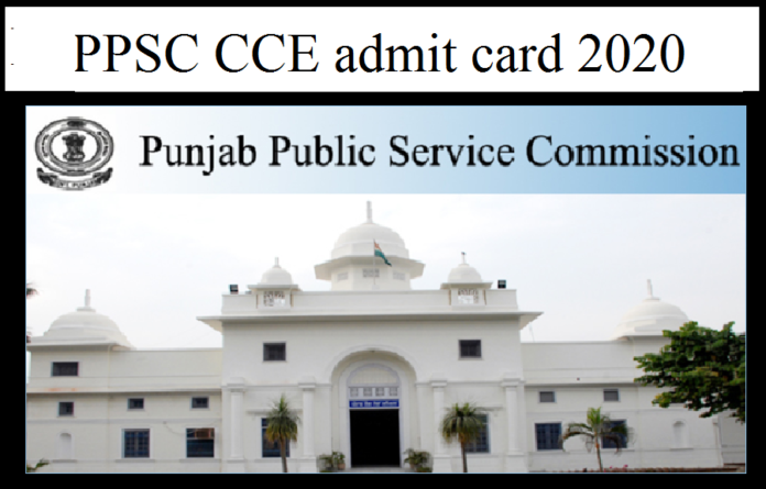 PPSC CCE admit card 2020