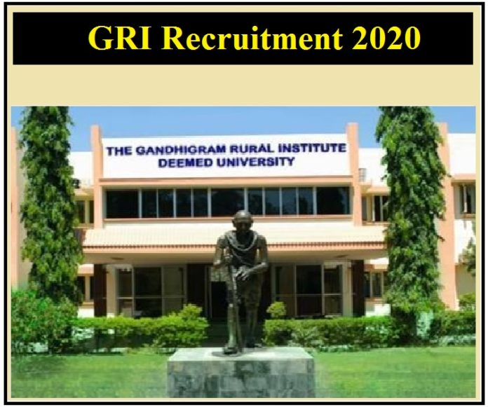 GRI Recruitment 2020 Out – Apply For Guest / Part-Time Teacher Vacancy!!