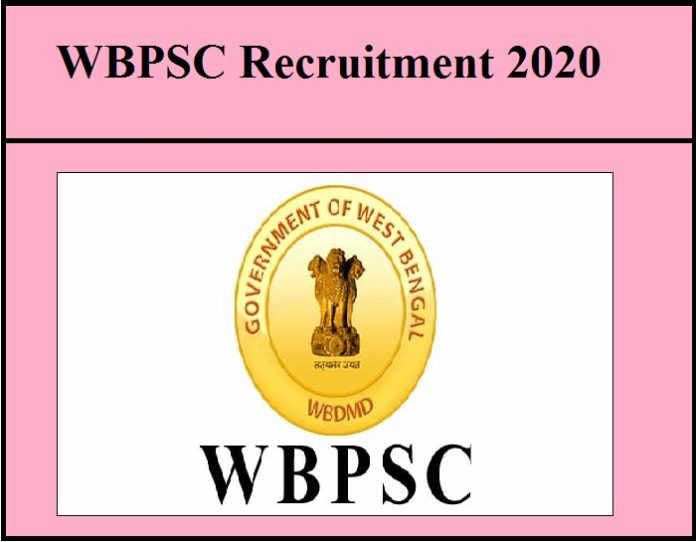 WBPSC Recruitment 2020 out|| Apply Online!!!