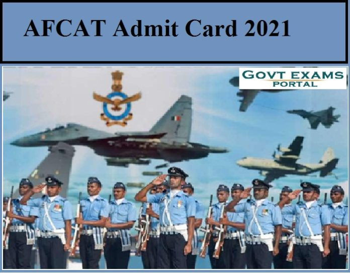 AFCAT Admit Card 2021