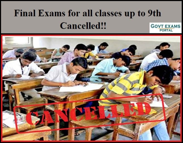 Final Exams for all classes up to 9th Cancelled - Kerala Education Dept!!