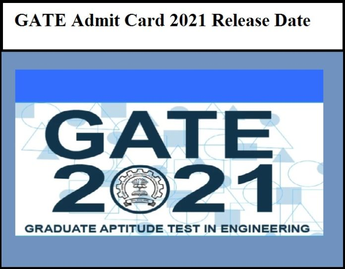 GATE Admit Card 2021 Hall Ticket Release Date