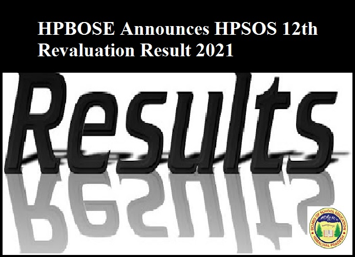 HPBOSE Announces HPSOS 12th Revaluation Result 2021