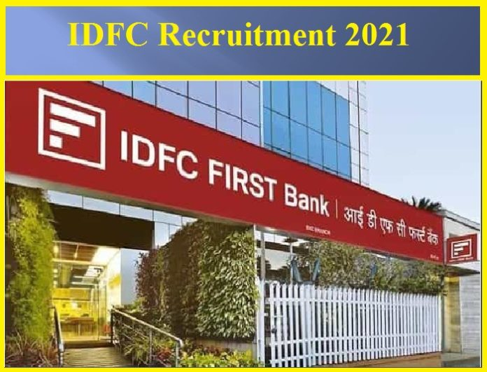 IDFC Recruitment 2021