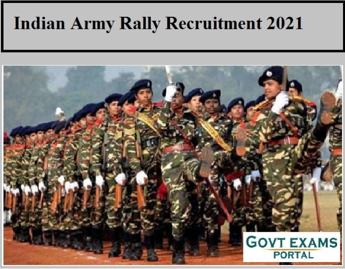 Indian Army Rally Recruitment 2021