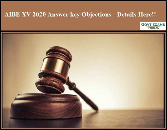 AIBE XV 2020 Answer key Objections - Details Here!!