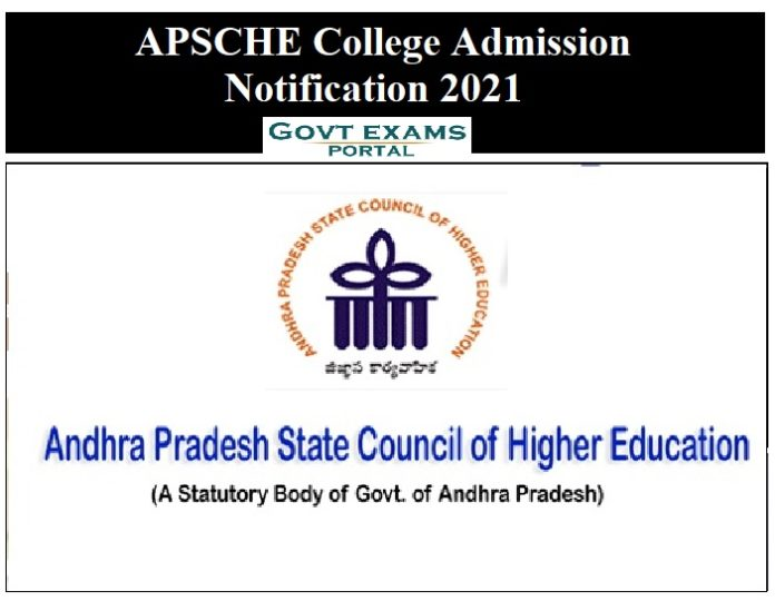 APSCHE College Admission Notification 2021