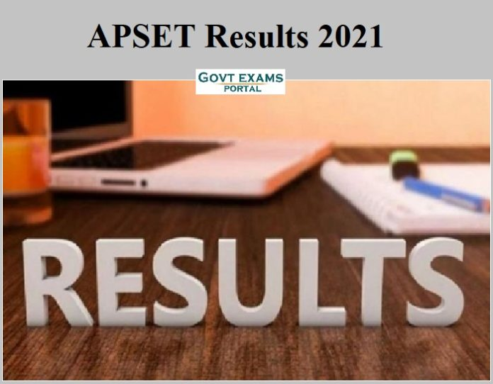 APSET Results 2021