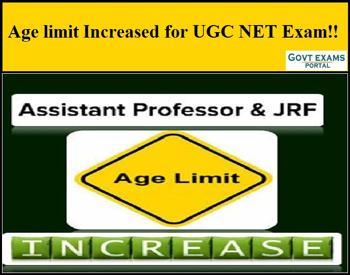 Age limit Increased for UGC NET Exam