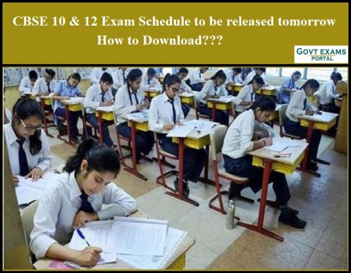 CBSE 10 & 12 Exam Schedule to be released tomorrow - How to Download