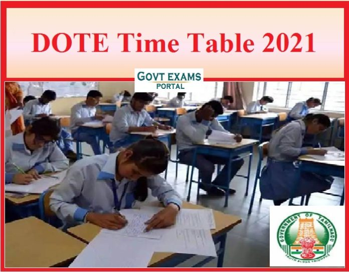 DDOTE Time Table 2021