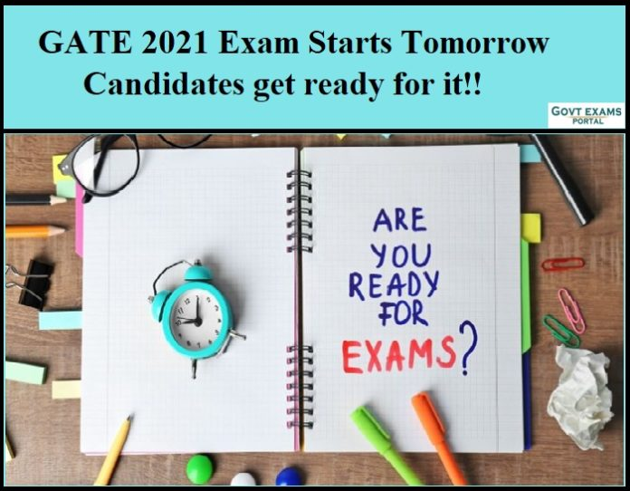 GATE 2021 Exam Starts Tomorrow - Candidates get ready for it!!