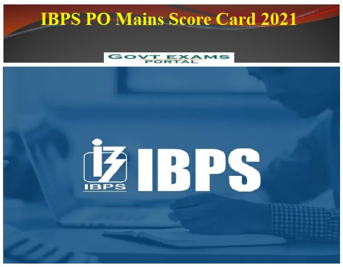 IBPS PO Mains Score Card 2021 - Check CRP RRB IX Details || Download Here!!!!
