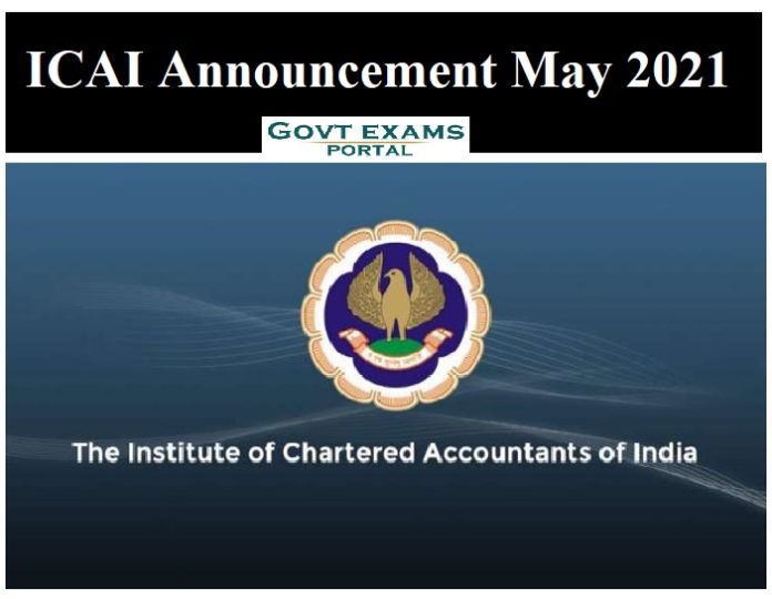ICAI Announcement May 2021
