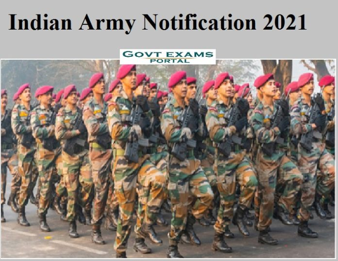 Indian Army Notification 2021
