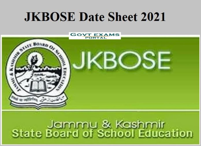 JKBOSE 10th Date Sheet 2021 OUT – Download 12 th Exam Date Here!!