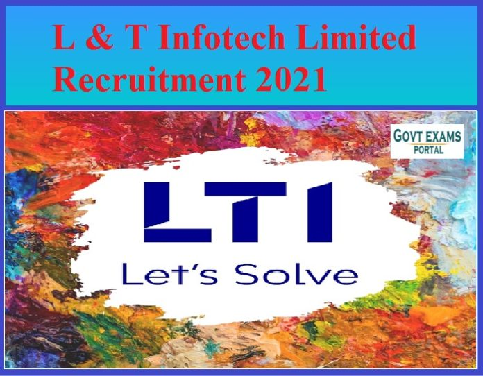 L&T Infotech Limited recruitment 2021