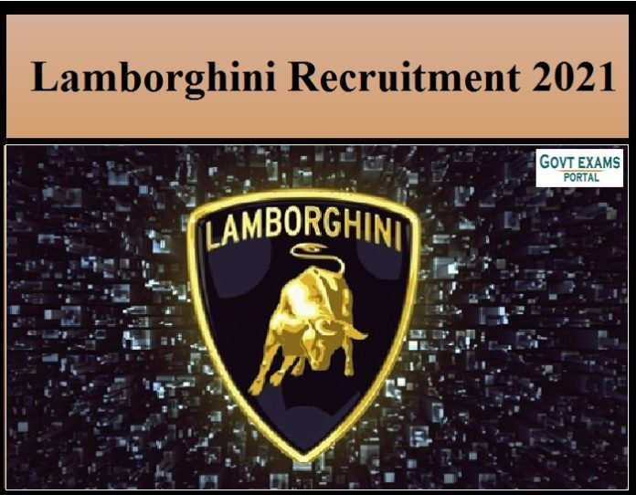 Lamborghini Recruitment 2021