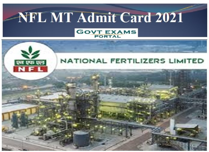 NFL MT Admit Card 2021