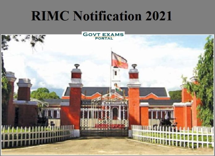 RIMC Notification 2021
