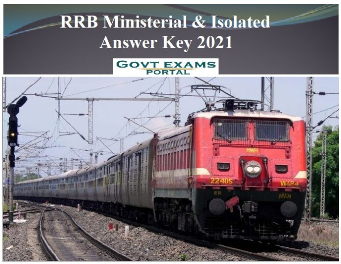 RRB Ministerial & Isolated Answer Key 2021