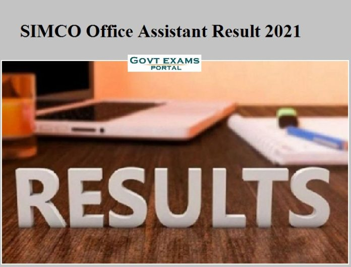 SIMCO Office Assistant Result 2021