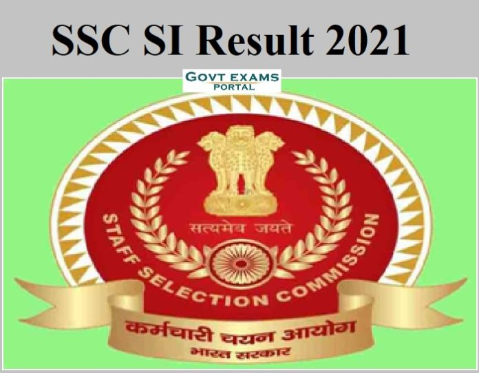 SSC SI Result 2021