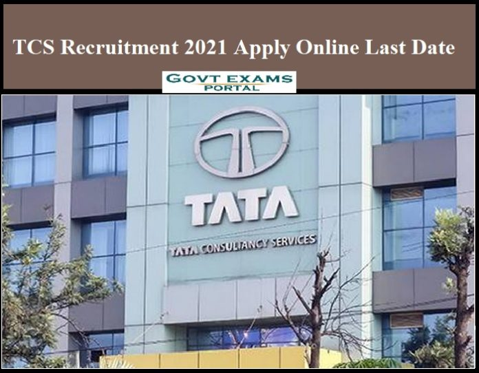 TCS Recruitment 2021 out – Apply Online Last Date