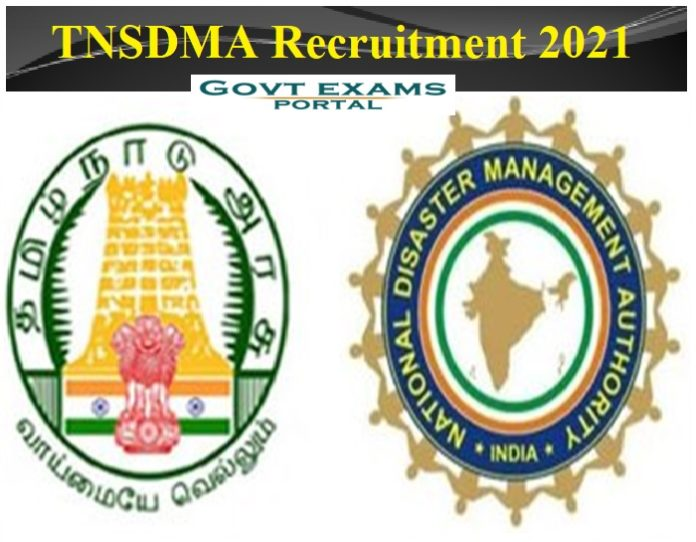 TNSDMA Recruitment 2021 Out - Agricultural Expert & Salary Rs.7.20 Lakh Per Annum    Download Application Here!!!