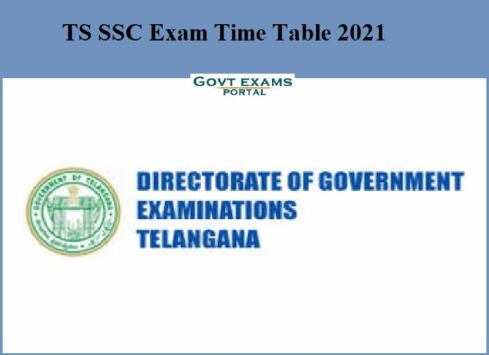TS SSC Exam Time Table 2021