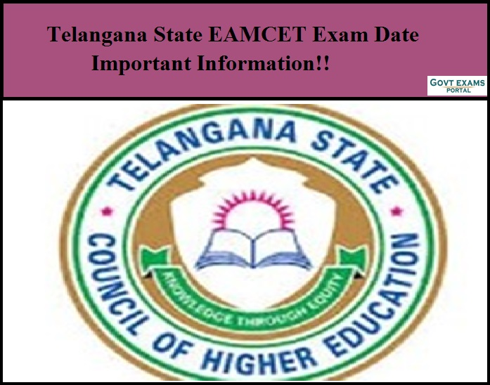Telangana State EAMCET Exam Date - Important Information!!