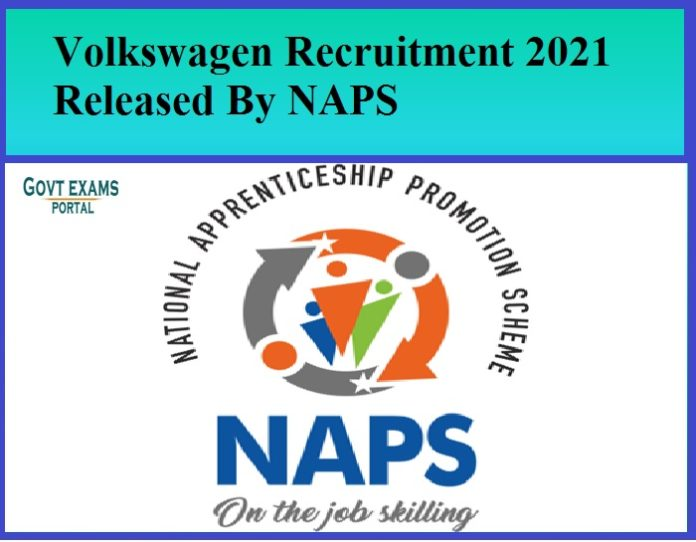Volkswagen Recruitment 2021 Released By NAPS