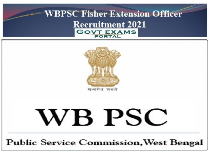 WBPSC Fisher Extension Officer Recruitment 2021