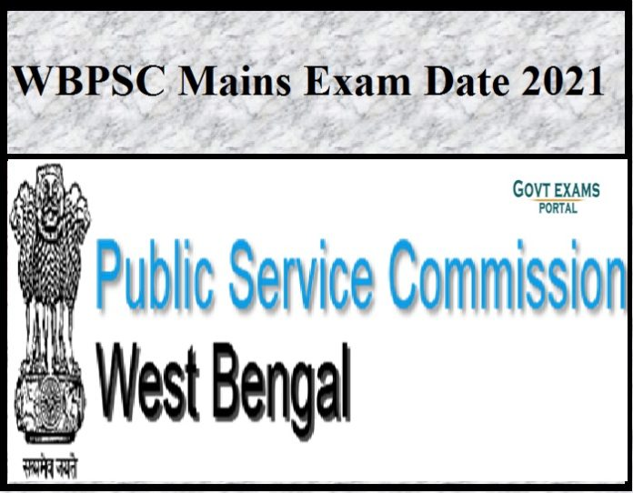 WBPSC Mains Exam Date 2021