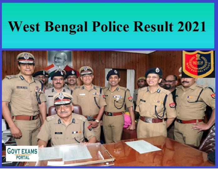 West Bengal Police Result 2021