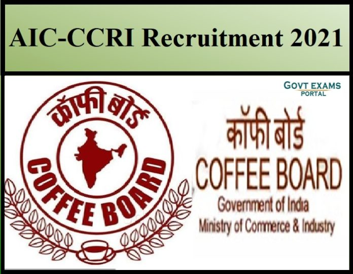 AIC-CCRI Recruitment 2021
