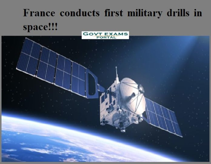 France conducts first military drills in space!!!