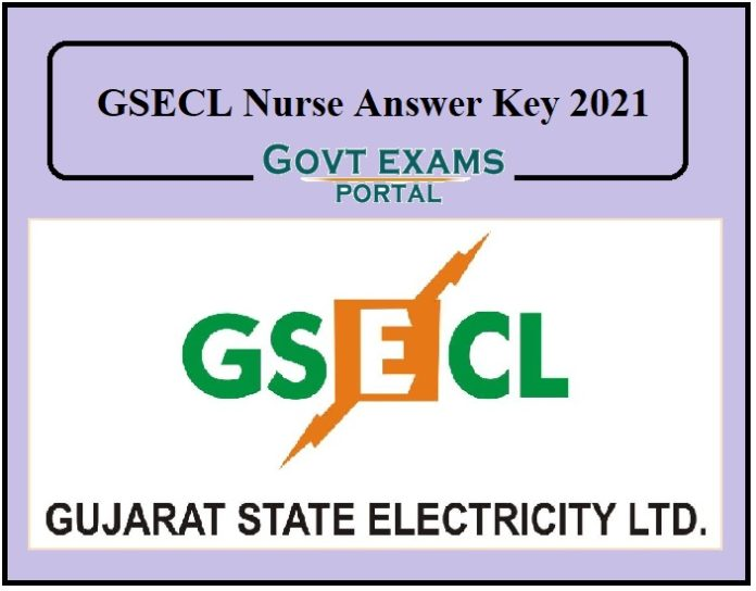 GSECL Nurse Answer Key 2021 Out – Check Objection Details Here