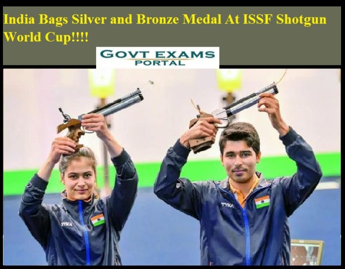 India Bags Silver and Bronze Medal At ISSF Shotgun World Cup