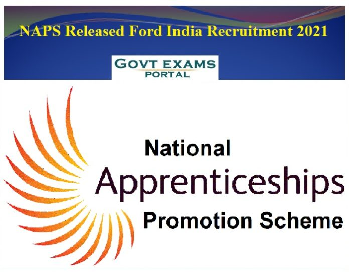 NAPS Released Ford India Recruitment 2021