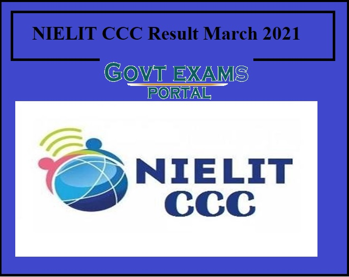 NIELIT CCC Result March 2021