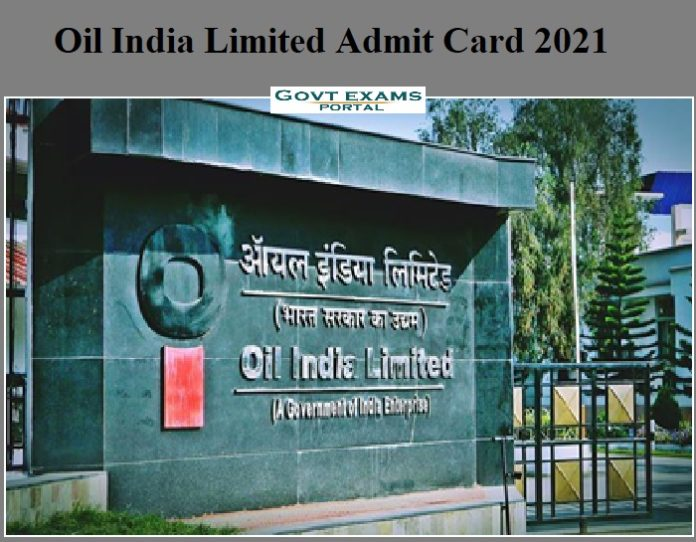 Oil India Limited Admit Card 2021