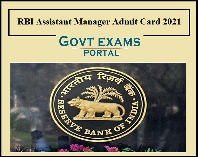RBI Assistant Manager Admit Card 2021