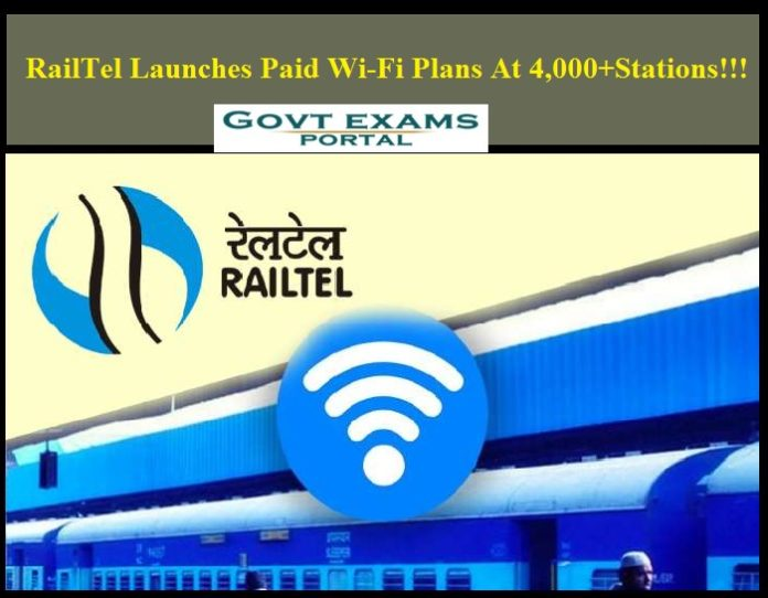 RailTel Launches Paid Wi-Fi Plans At 4,000+ Stations!!!