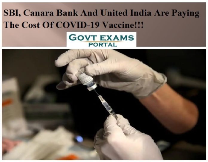 SBI, Canara Bank And United India Are Paying The Cost Of COVID-19 Vaccine!!!