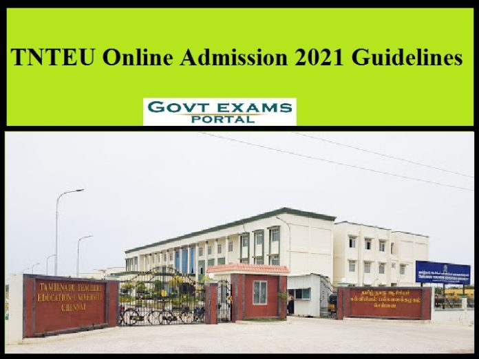TNTEU Online Admission 2021 guidelines