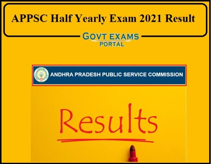 APPSC Half Yearly Exam 2021 Result Released- Direct Link to Download!!!