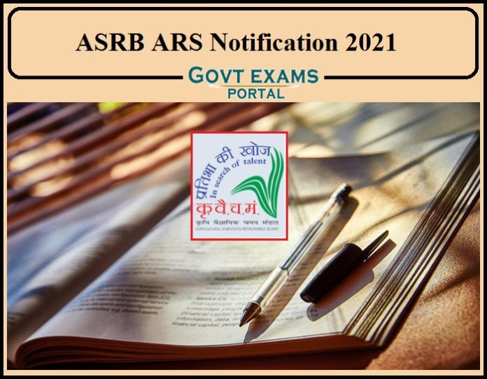 ASRB ARS Notification 2021 Out – Apply Online