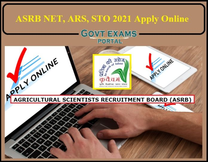 ASRB NET 2021 Apply Online Begins- Direct Link to Apply For ARS, STO!!